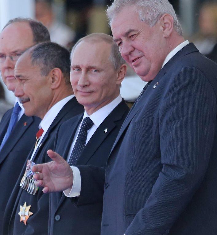 Президент России Владимир Путин и президент Чехии Милош Земан