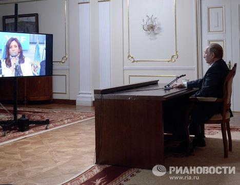 Владимир Путин провел телемост с Кристиной Фернандес де Киршнер