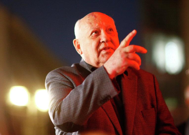 Михаил Горбачев в Берлине на праздновании 25-летней годовщины падения Берлинской стены, 7 ноября 2014