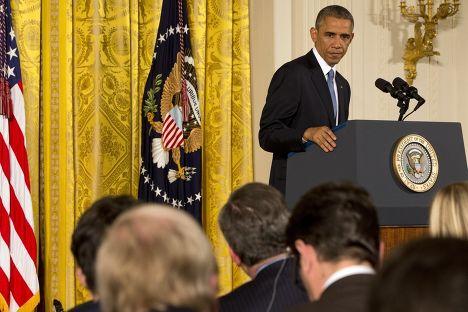 Барак Обама на пресс-конференции по результатам выборов в Конгресс