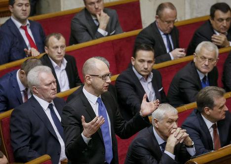 Арсений Яценюк на первом заседании Верховной рады VIII созыва