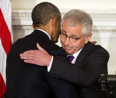 Барак Обама и Чак Хейгел