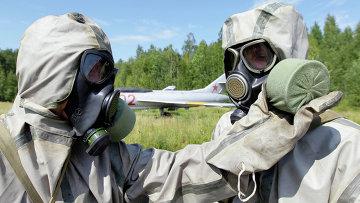 Учения войск радиационной, химической и биологической защиты
