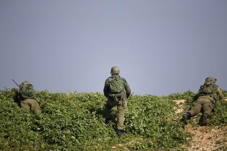 Израильские солдаты на границе с Ливаном