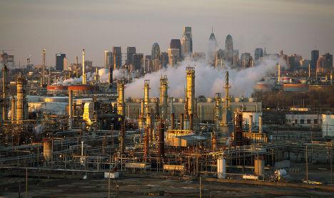 Нефтеперерабатывающий завод в Филадельфии