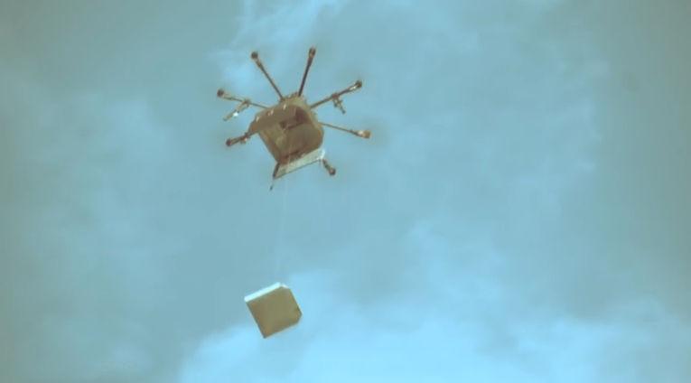Доставка пиццы Dodo Pizza с помощью дрона