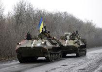 Бронетранспортеры украинской армии рядом с Артемовском