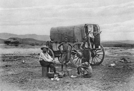 Немецкий фермер Людвиг Конрадт, приехавший в Юго-Западную Африку в 1885 году, фото 1907 года