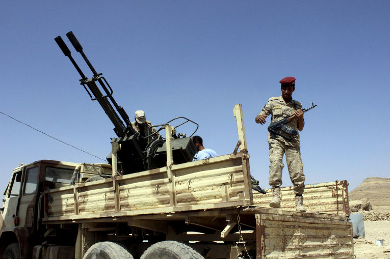 Йеменские солдаты в городе Саада
