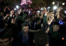 Иранцы празднуют подписание соглашения в Лозанне