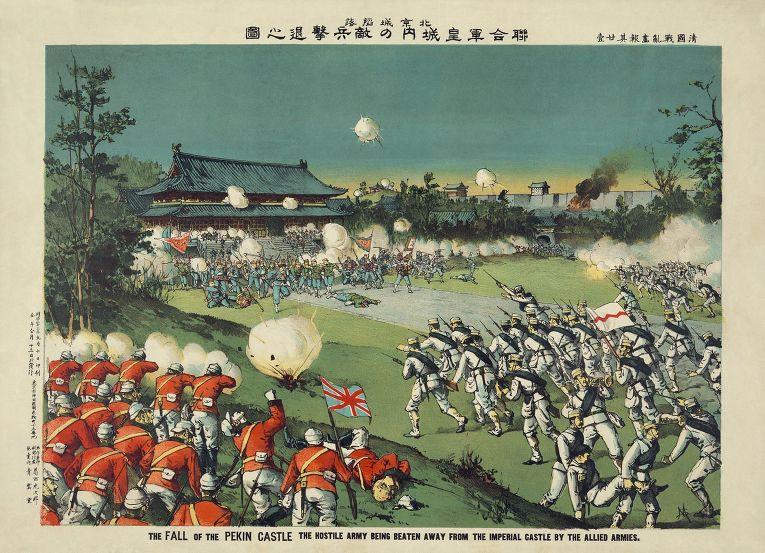Войска коалиции наступают на Пекин во время Ихэтуаньского восстания