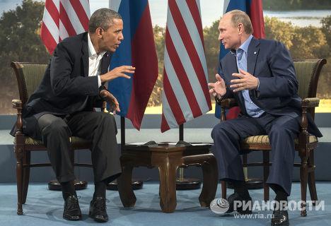 Владимир Путин встретился с Бараком Обамой в рамках саммита G8