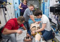 Учения по оказанию медицинской помощи на МКС в Космическом центре имени Джонсона
