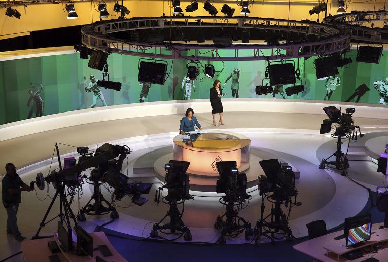 Студия телеканала Al Jazeera в Дохе