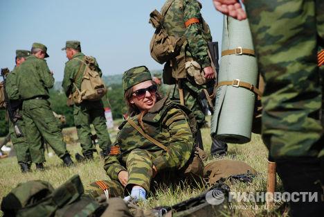 Ополченцы ДНР в Старобешевском районе Донецкой области