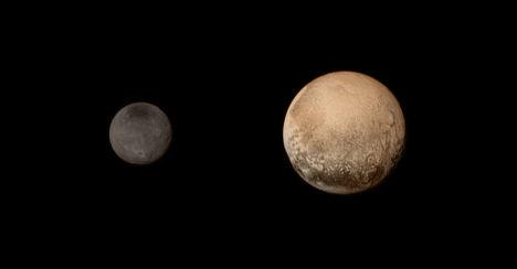 """Новый цветной портрет """"пары"""" Плутона и Харона"""