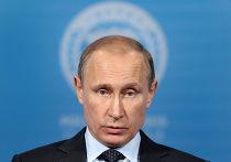Владимир Путин выступает на пресс-конференции по итогам саммита ШОС в Уфе