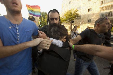 Ультраортодоксальный еврей Ишаи Шлиссел, напавший на участников гей-парада в Иерусалиме