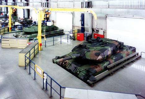 Танк «Леопард 2» на заводе Krauss-Maffei Wegmann в Мюнхене