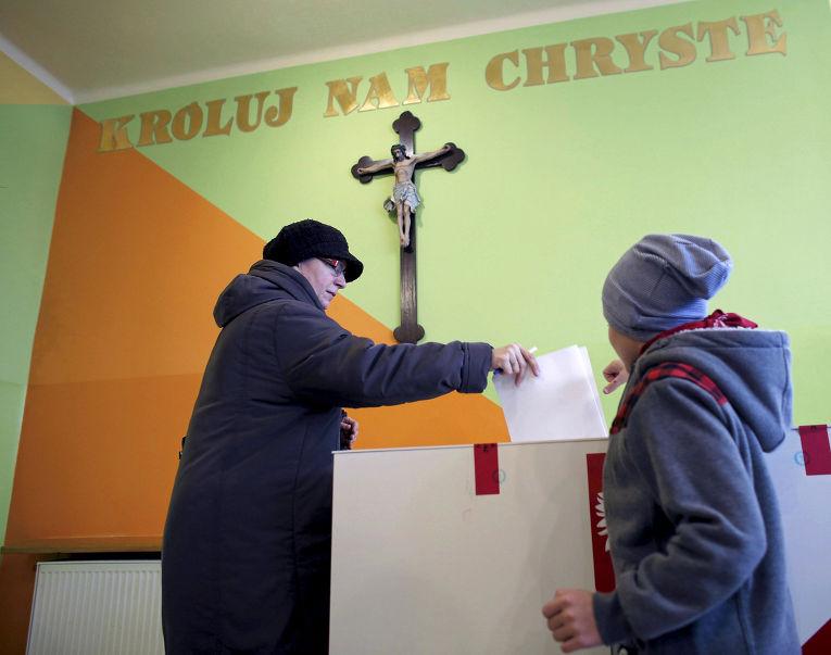 Голосование на парламентских выборах в Польше