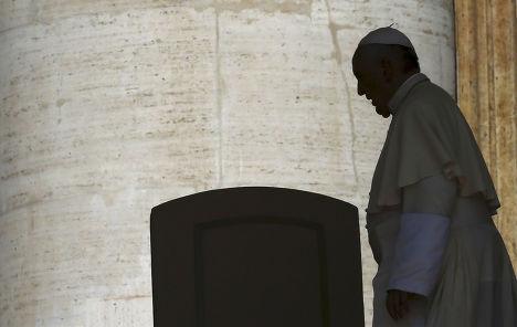 Папа Франциск перед аудиенцией на площади Святого Петра