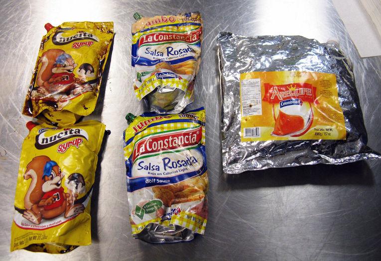 Шоколадный сироп, в котором была найдена кокаиновая паста