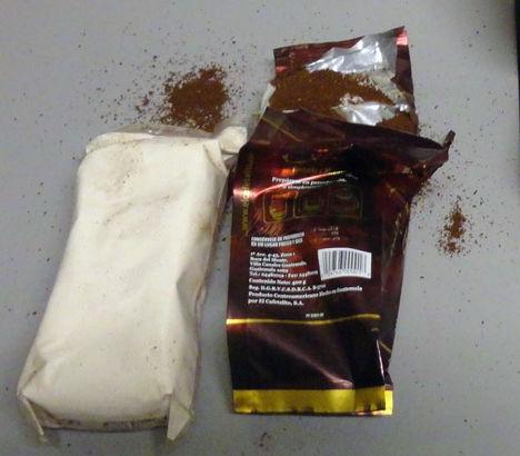 Кокаин, найденный в пачке кофе