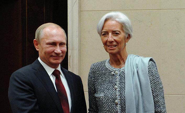 Владимир Путин и Кристин Лагард во время встречи на саммите АТЭС