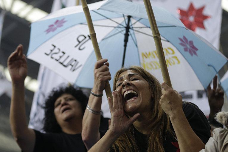 Митинг сторонников кандидата в президенты Аргентины Даниэля Сциоли в Буэнос-Айресе