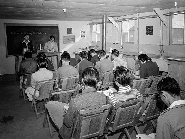 Лагерь Манзанар для интернированных японцев