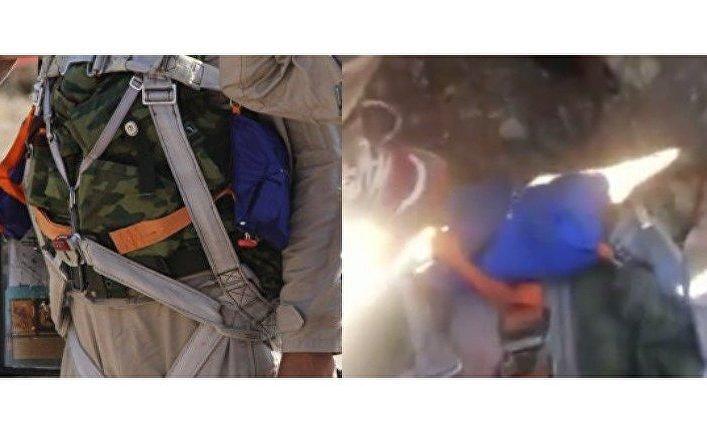 Фрагмент фотографии российских пилотов в Латакии и кадр из видео с погибшим пилотом