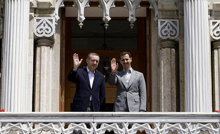 Президент Сирии Башар Асад и премьер-министр Турции Реджеп Тайип Эрдоган во время встречи в Стамбуле, 2010 год