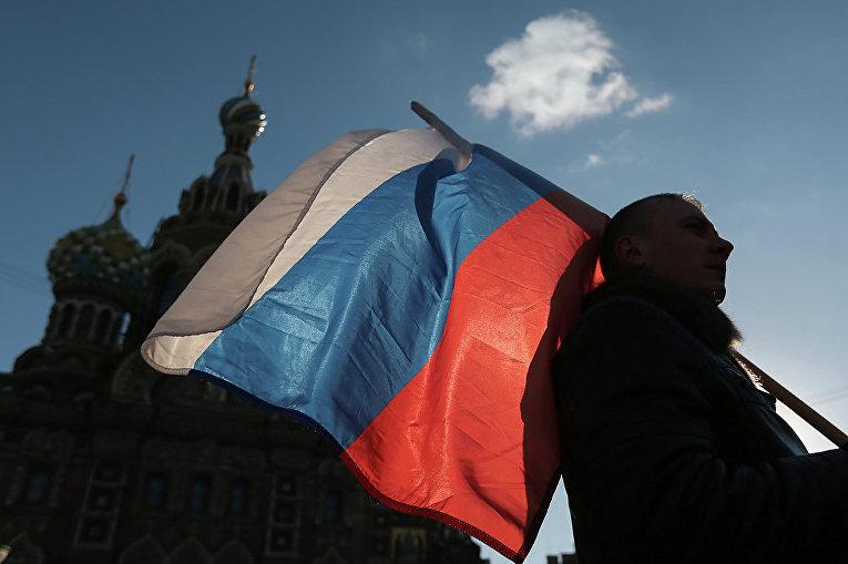 Митинг в поддержку Крыма в Санкт-Петербурге