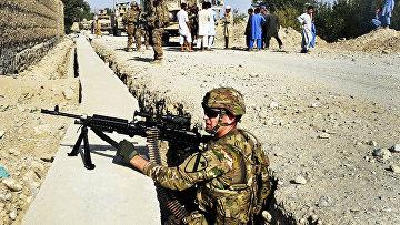 Солдаты США, охрана базы, Афганистан