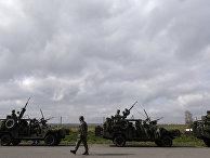 Чешские военные принимают участие в учениях НАТО The Noble Jump в городе Хрудим