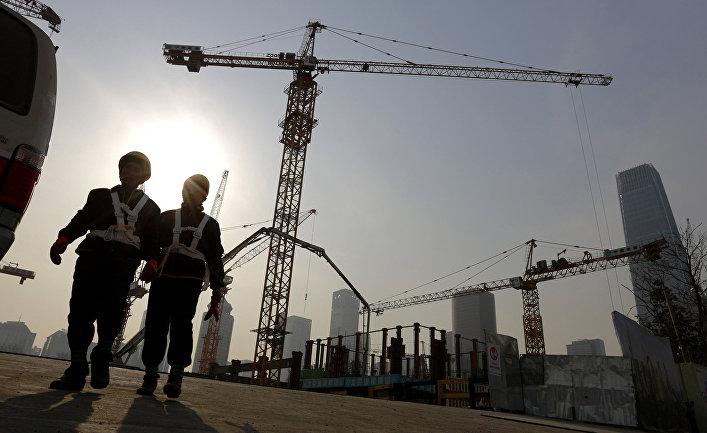 Строящиеся здания в деловом центре Пекина
