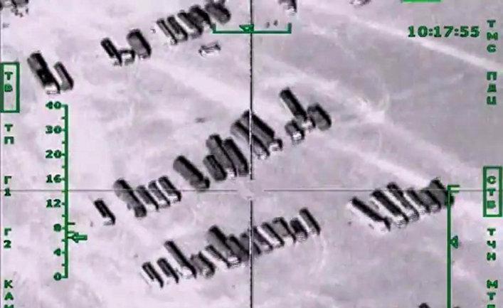 Авиаудары ВКС России по нефтеперерабатывающему заводу ИГ в Сирии