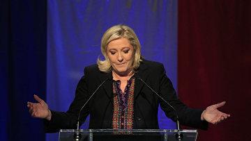 Лидер «Национального фронта» Марин Ле Пен после объявления результатов второго раунда местных выборов