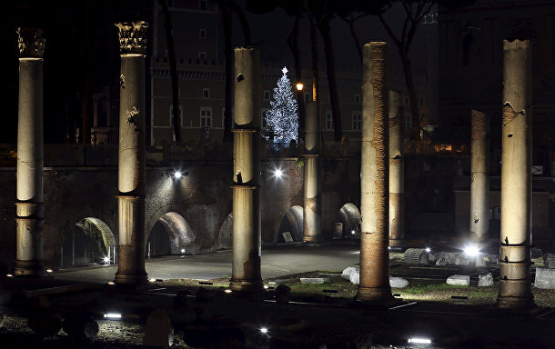 Рождественская елка в Риме