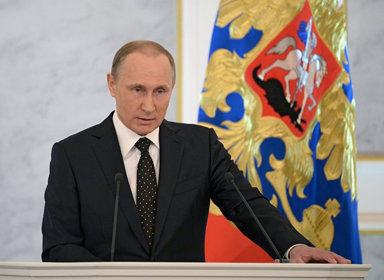 Обращение президента РФ В.Путина с ежегодным посланием к Федеральному Собранию