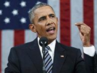 Барак Обама выступает в Конгрессе с докладом о положении дел в стране