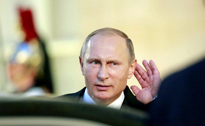 Владимир Путин после встречи «нормандской четверки» в Париже