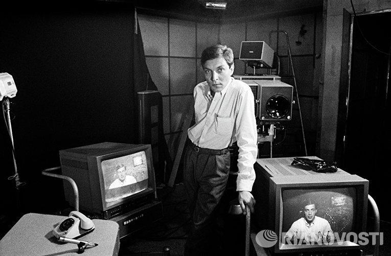 Автор и ведущий программы «600 секунд» Ленинградского телевидения Александр Невзоров