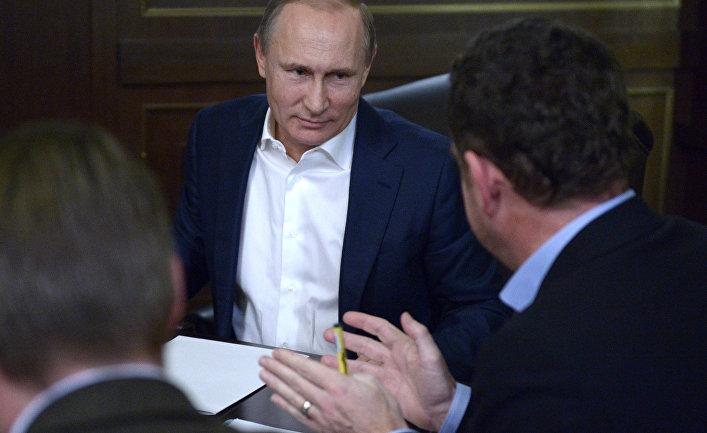 Владимир Путин дает интервью немецкому изданию Bild