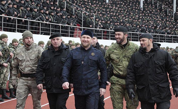 Рамзан Кадыров проводит смотр подразделений специального назначения на стадионе «Динамо» в Грозном