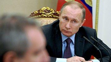 Президент РФ В. Путин провел заседание Совета по противодействию коррупции