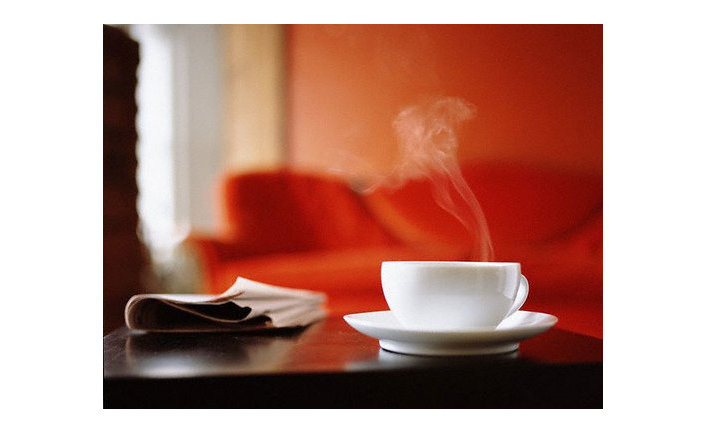 Кофе и газета