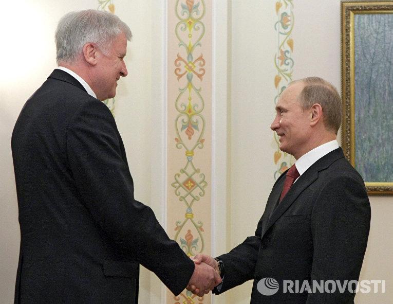 Премьер-министр РФ В.Путин встретился с премьер-министром Баварии Хорстом Зеехофером