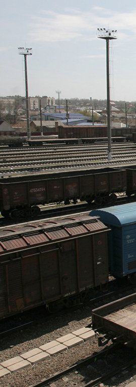 Вагоны на железной дороге. Архив