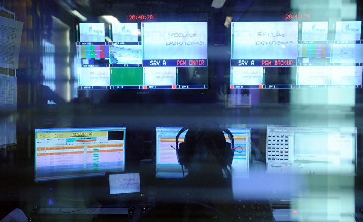 Работа в телестудии